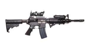 美国陆军M4A1马枪 免版税库存照片