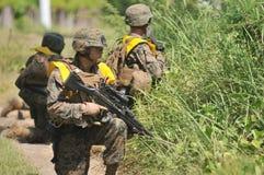 美国陆战队在印度尼西亚 免版税库存图片