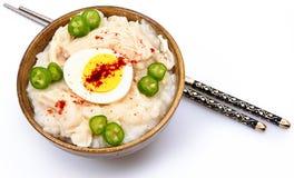 美国韩文样式Dukjuk鸡粥 库存照片