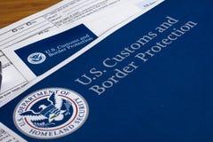 美国风俗和边界保护 免版税库存图片