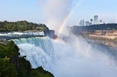 从美国风景视图的尼亚加拉瀑布 库存照片