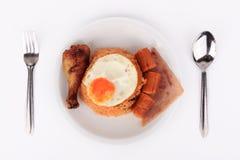 美国风格的早餐集合,美国人炒饭 库存照片