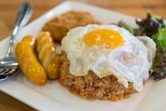 美国风格的早餐集 免版税图库摄影