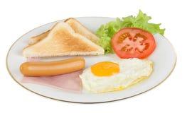 美国风格的早餐 图库摄影