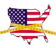 美国饮食映射评定的磁带 库存图片
