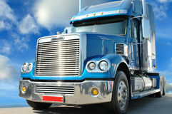 美国高速公路星形卡车 库存照片