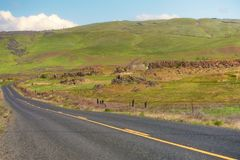 美国高速公路197哥伦比亚河峡谷 免版税图库摄影