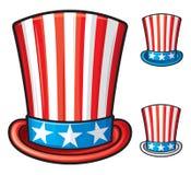 美国高顶丝质礼帽 免版税库存照片