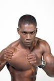 美国黑人拳击手 免版税库存图片