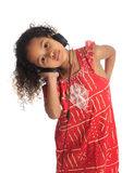 美国黑人的亚洲美丽的黑色儿童头发 库存图片
