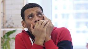 美国黑人的人被迷惑和被惊吓问题 股票视频
