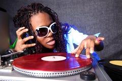 美国黑人的冷静dj 免版税库存图片