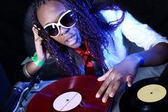 美国黑人的dj 图库摄影