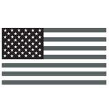 美国黑旗白色 库存图片