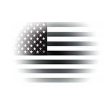 美国黑色迷离标志白色 免版税图库摄影