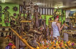 美国,亚利桑那, 30,06,2016在纪念品店墨西哥和nat 免版税图库摄影