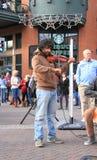 美国,亚利桑那:小提琴手奥利佛史东Blaylock 免版税图库摄影