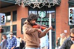 美国,亚利桑那:小提琴手奥利佛史东Blaylock 免版税库存图片