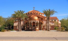 美国,亚利桑那:新的希腊东正教(2001) 免版税库存照片