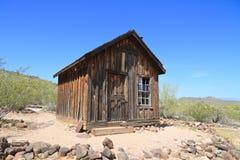 美国,亚利桑那:老西部-矿工客舱 图库摄影