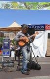 美国,亚利桑那:音乐家帕特里克Ki 免版税库存照片