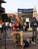 美国,亚利桑那:音响吉他弹奏者保罗怀特 免版税库存照片