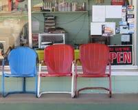 美国,小镇加油站,外部 免版税库存图片