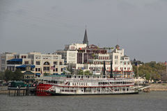 美国,路易斯安那,新奥尔良-密西西比河 免版税库存图片