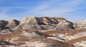美国, AZ :化石森林NP -五颜六色的荒地 库存图片