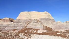 美国, AZ :化石森林NP -蓝色Mesa荒地 库存图片