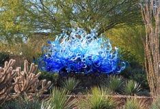 美国, AZ :Chihuly展览-蓝色Fiori太阳, 2013年 图库摄影