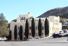 美国, AZ/Bisbee :建筑学-艺术装饰大厦 免版税库存图片