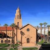 美国, AZ/Phoenix :历史的教会 库存图片