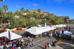 美国, AZ/Tempe :艺术-艺术家摊的节日 库存照片