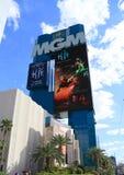 美国, NV :太阳马戏团的拉斯维加斯- MGMs广告 免版税库存照片