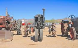 美国:古色古香的拖拉机:1923年Farmall/正面图 库存图片