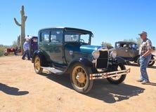 美国:古色古香的车的1928年福特,塑造A 免版税库存照片