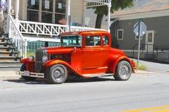 美国:古色古香的车的1931年福特de Luxe隆隆声位子Coupé (模型A) 库存图片