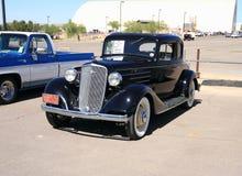 美国:古色古香的车的1934年薛佛列 免版税库存照片