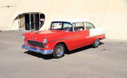 美国:经典车的1955年雪佛兰 库存照片