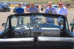 美国:经典车的1950年Oldsmobile 88/Convertible 库存照片