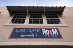 美国-亚利桑那-尤马和他的主路 免版税库存照片