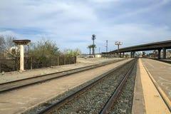 美国-亚利桑那-尤马和他的railstation 图库摄影