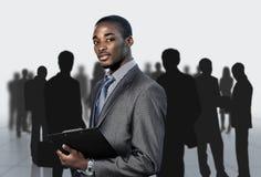 美国黑人的businessma 免版税库存照片