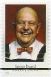 美国-大约2014年:展示詹姆斯安德鲁胡子1903-1985,美国厨师、作者和电视人物,系列名人厨师 免版税库存图片