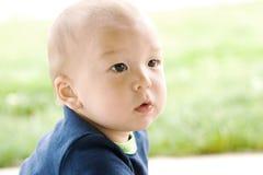 美国婴孩逗人喜爱的韩文纵向 库存图片