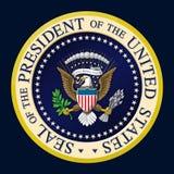 美国总统封印颜色 图库摄影