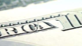 美国货币查出的四分之一白色 影视素材
