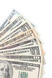 美国货币查出的四分之一白色 库存图片