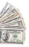 美国货币查出的四分之一白色 免版税图库摄影
